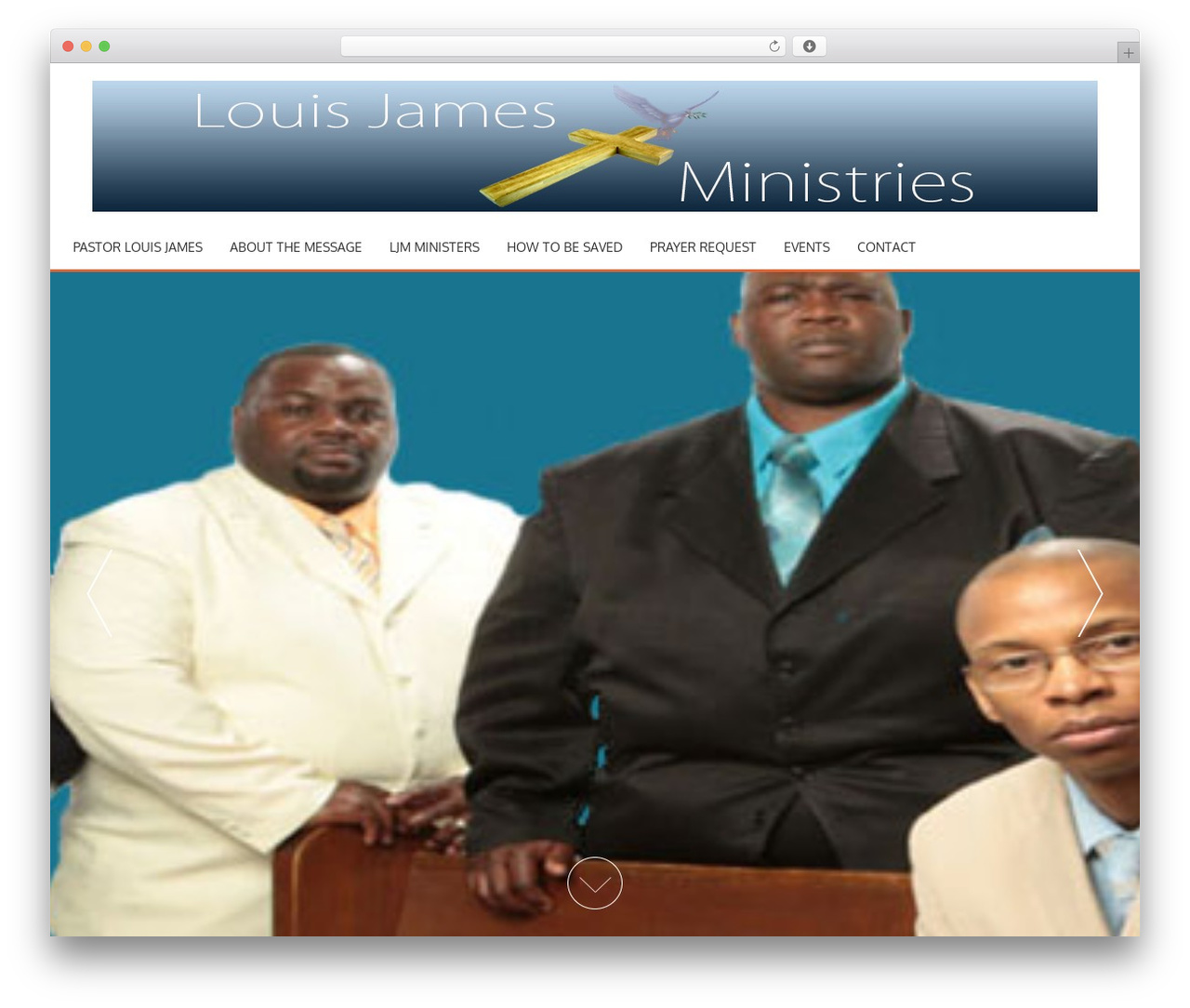 AccessPress Parallax WordPress theme design - louisjamesministries.org