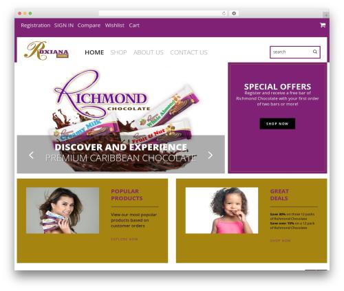 cherry best WordPress template - roxianafoods.com