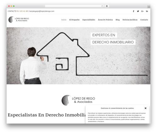 Dejure premium WordPress theme - lopezderego.com