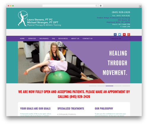 FITNESS-WP fitness WordPress theme - laurastevens-physicaltherapy.com