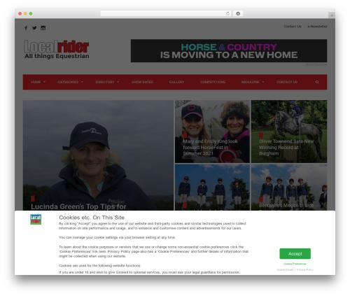 WordPress contentprotector plugin - localrider.co.uk
