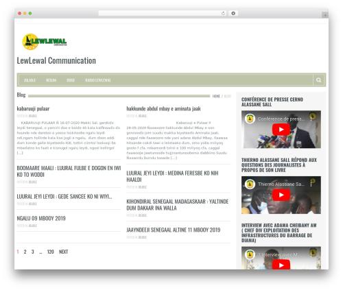 Resolution WordPress theme - lewlewal.com