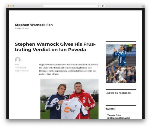 Twenty Sixteen WordPress theme free download - stephenwarnockfan.net