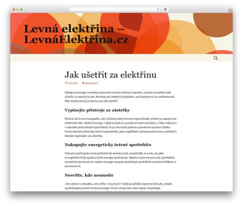 Twenty Thirteen WP template - levnaelektrina.cz