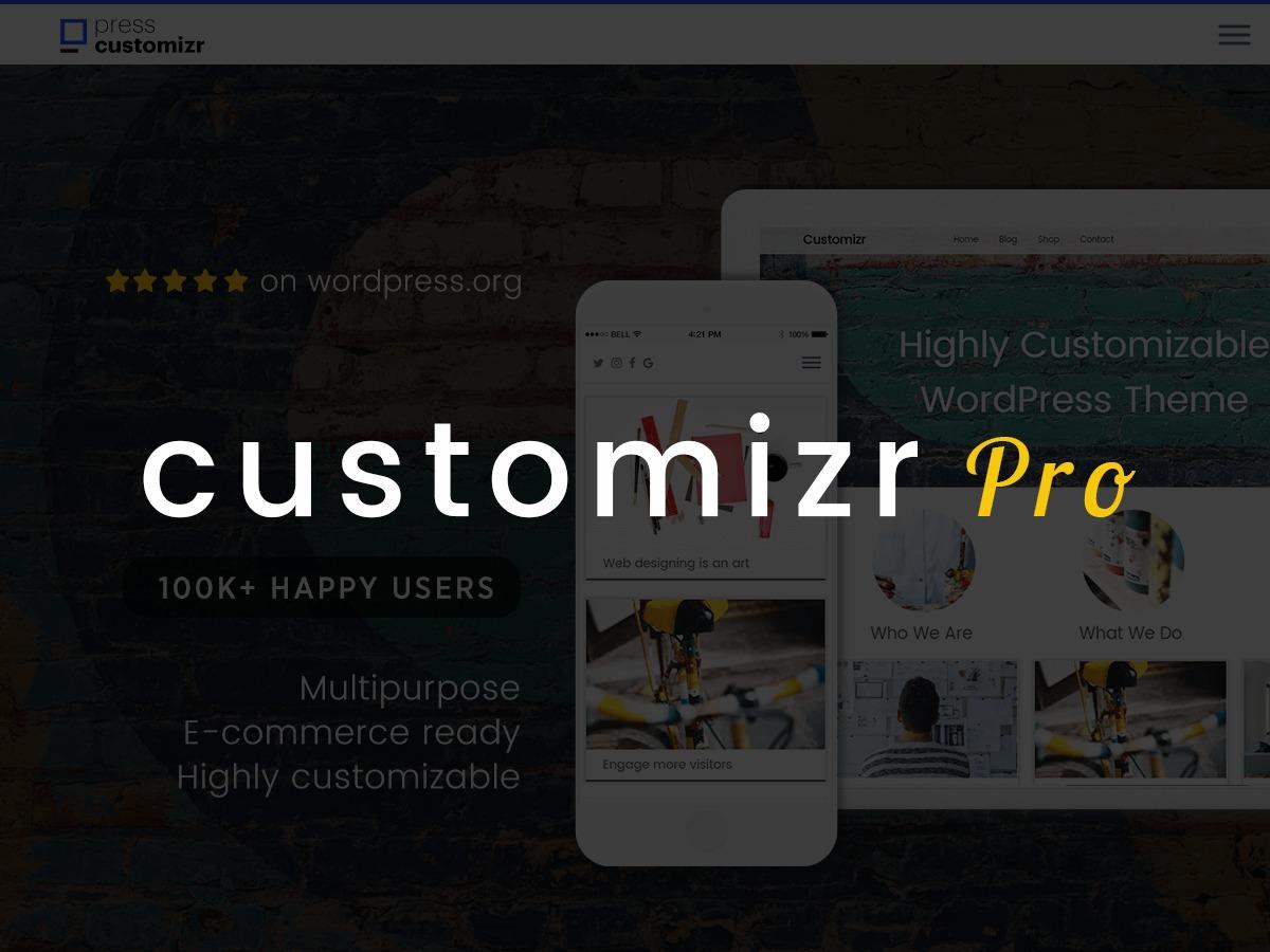 WordPress website template Customizr Pro