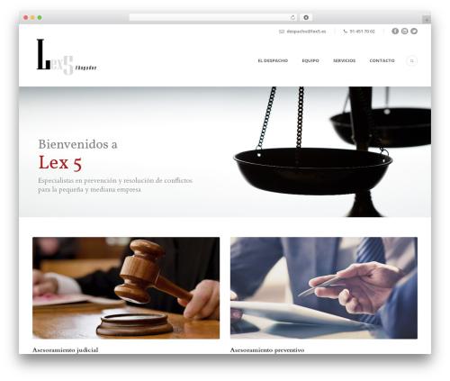 WP template Lawyer Base - lex5.es
