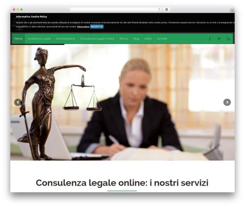 Attorney best WordPress template - legale-online.net
