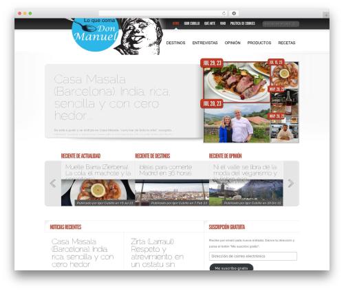 Best WordPress theme Delicate News - loquecomadonmanuel.com