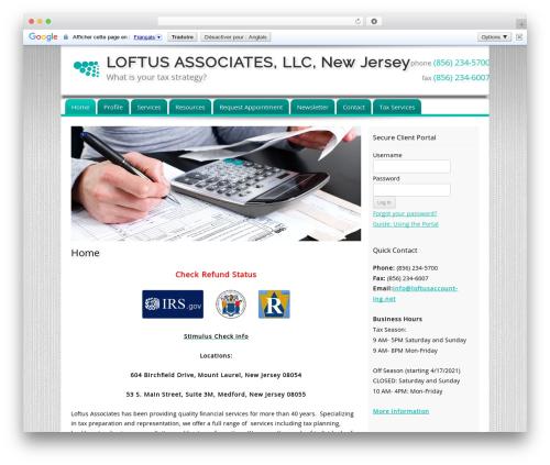 Customized WordPress theme - loftustax.com