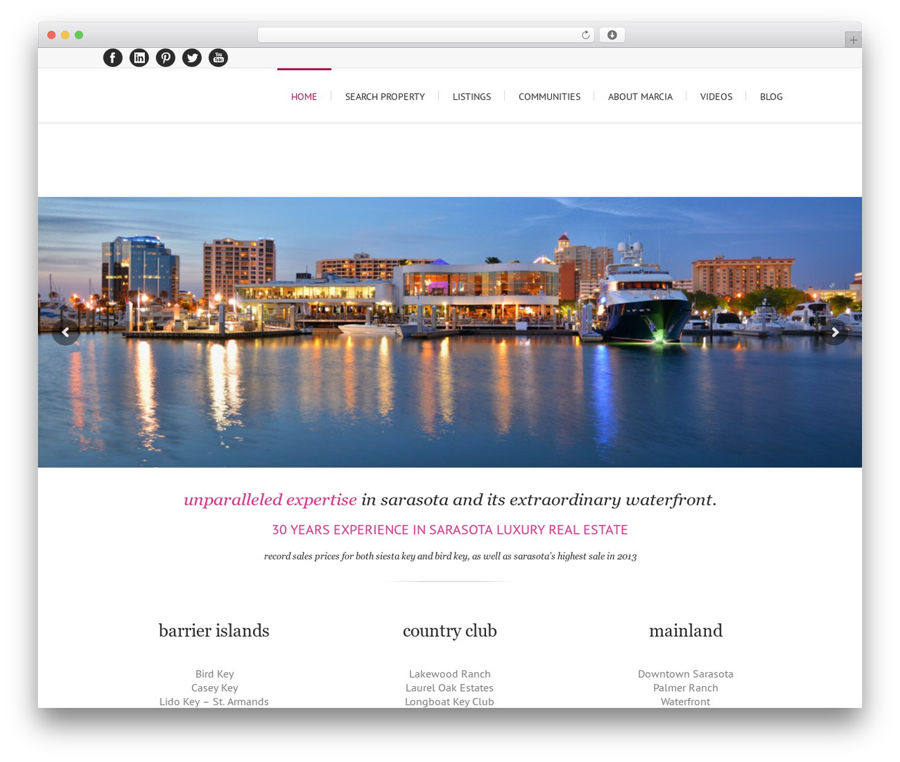 Lounge best real estate website - luxuryrealestateinsarasota.com