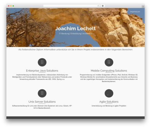 Pinnacle WordPress page template - lechelt.org/wordpress