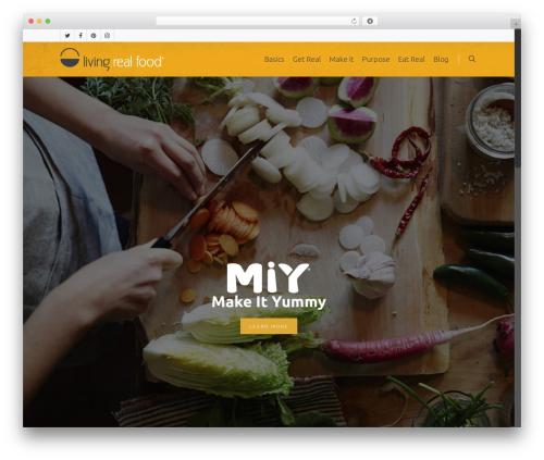 Theme WordPress Salient - livingrealfood.com