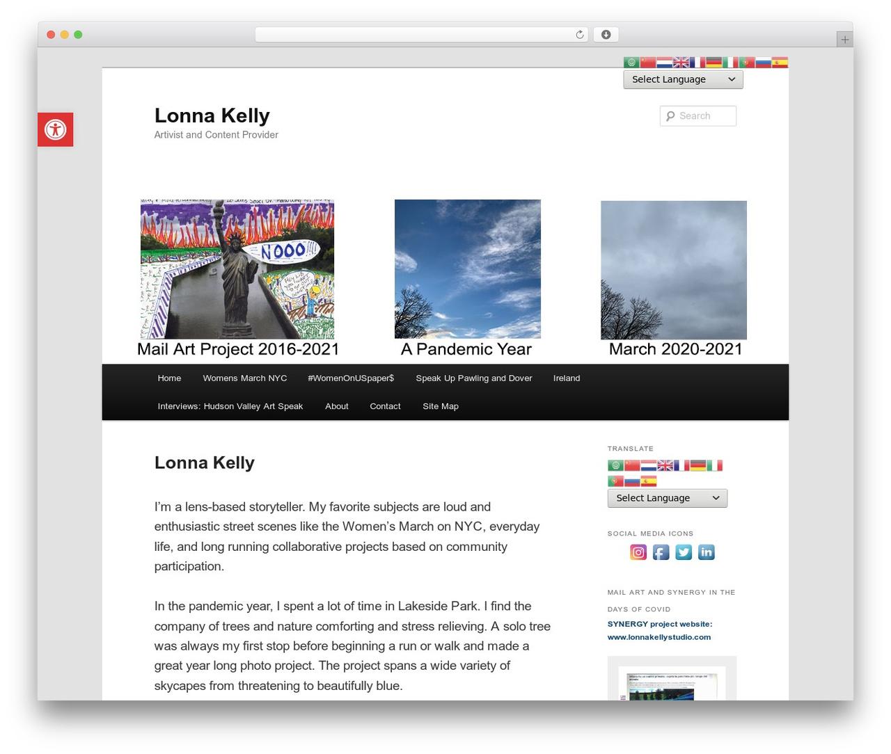 Twenty Eleven best free WordPress theme - lonnakelly.com