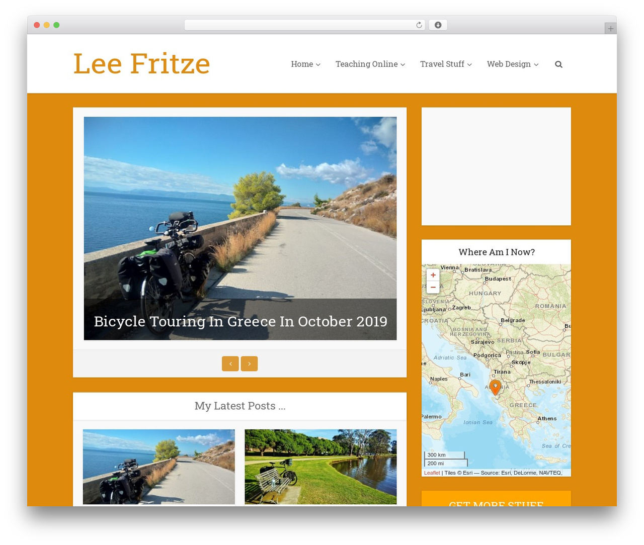 Voice WordPress travel theme - leefritze.com
