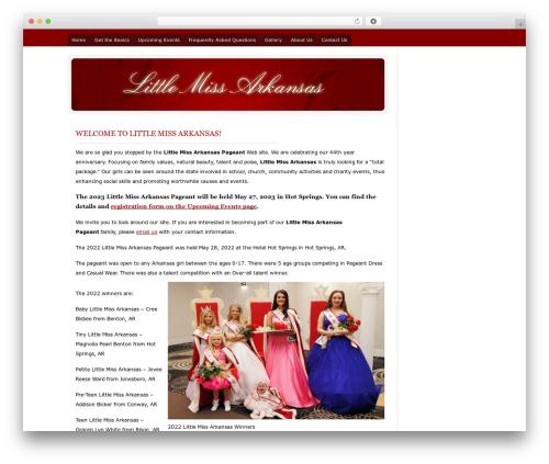 WordPress theme LMA - littlemissarkansas.com