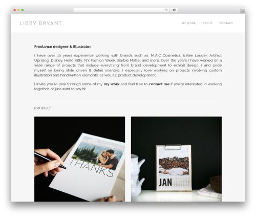 Bridge WordPress theme - libbybryant.co
