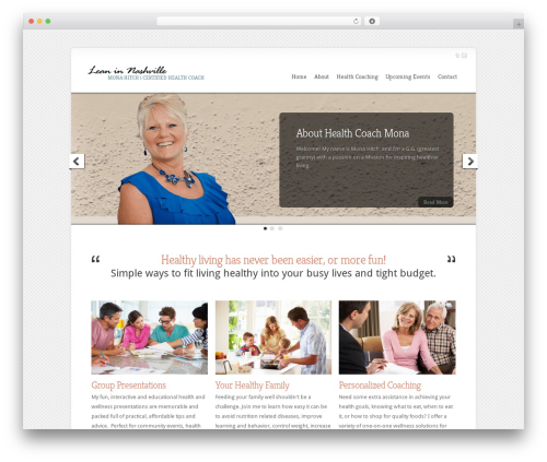 Chameleon WordPress theme - leaninnashville.com