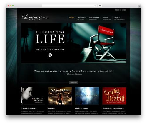Corona top WordPress theme - luminariumpictures.com