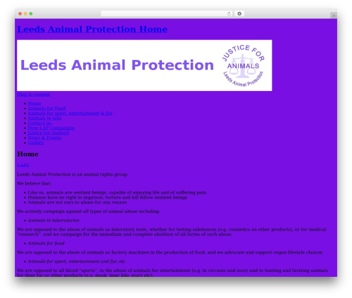Twenty Ten best free WordPress theme - leedsanimalprotection.org.uk