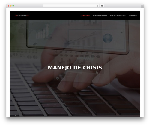 Best WordPress template Marquez - laesquina.pe