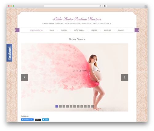 Best WordPress theme Sugar and Spice - littlephoto.pl
