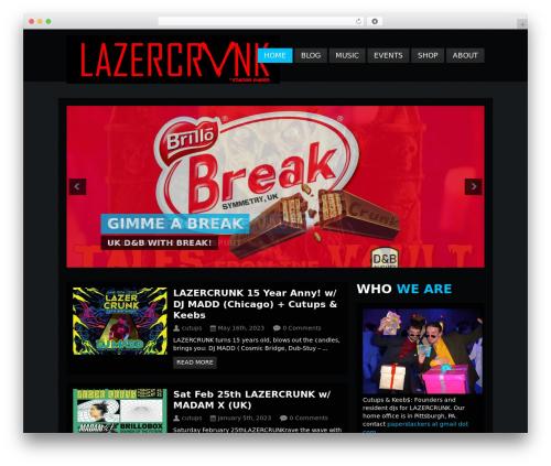 Clubber (Share On Theme123.Net) theme WordPress - lazercrunk.com