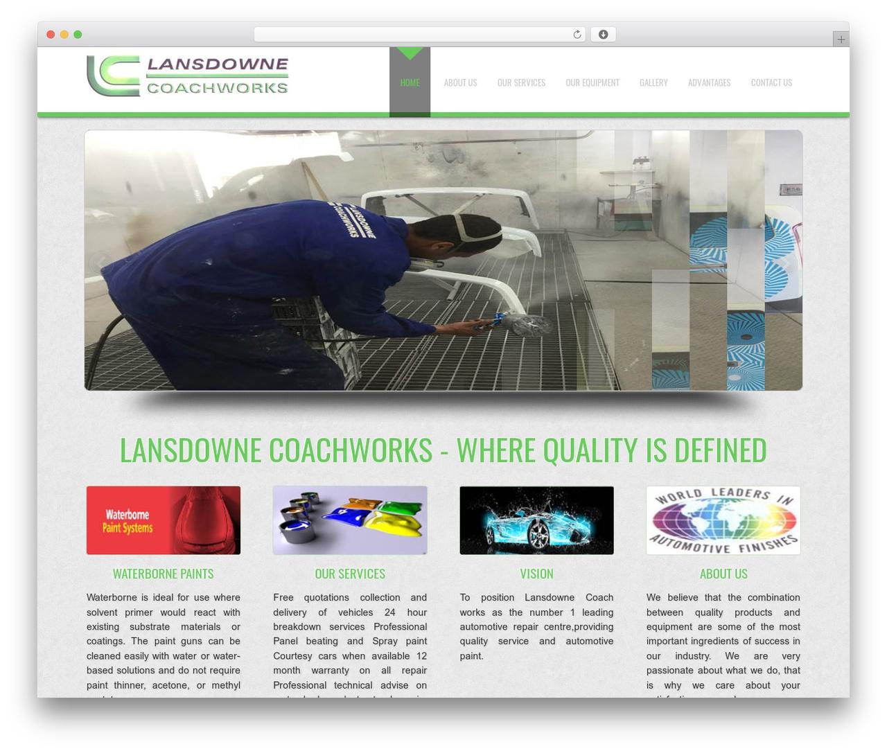 D5 Business Line Extend company WordPress theme - lansdownecoach.co.za