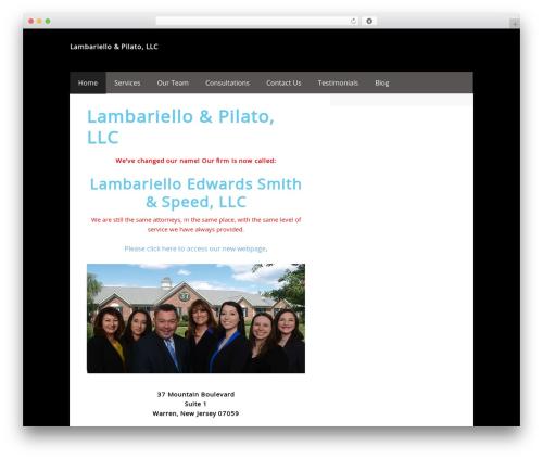 Executive Child Theme real estate WordPress theme - lplawoffices.com