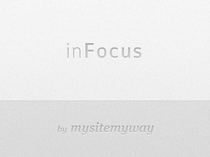 inFocus WordPress page template