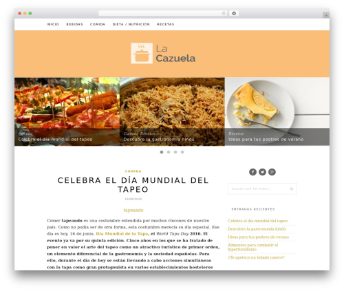WordPress theme Hemlock - lacazuela.es