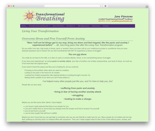 WordPress website template Organic-NonProfit - loveyourbreath.com/living-your-transformation