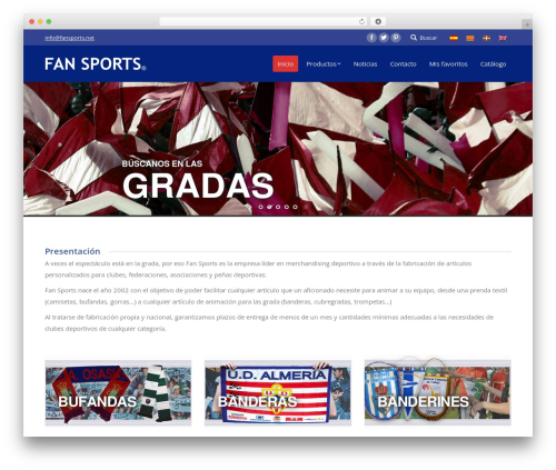Best WordPress template The7 | Shared By Themes24x7.com - fansports.net