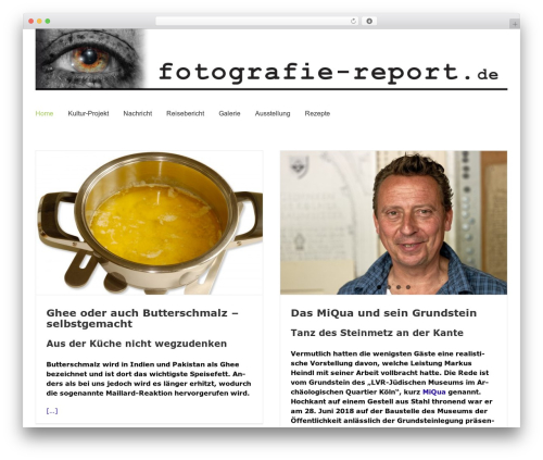 Best WordPress theme Avada - fotografie-report.de