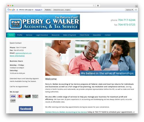 Customized WordPress website template - taxservicescharlotte.com