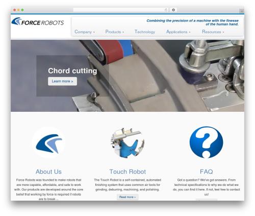 Customizr WordPress theme - forcerobots.com