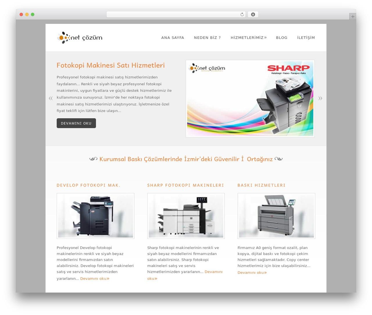Dandelion WordPress theme - fotokopizmir.com