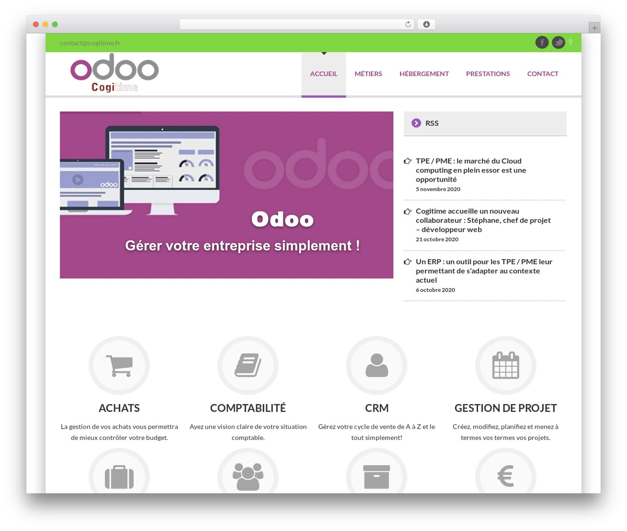 Delicate WP theme - france-odoo.fr