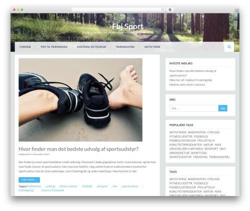Eezy Store free WordPress theme - fbjsport.dk