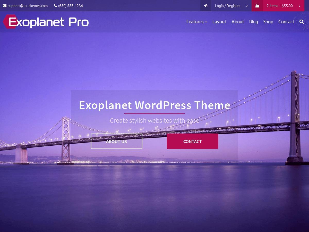 Exoplanet Pro WordPress blog theme