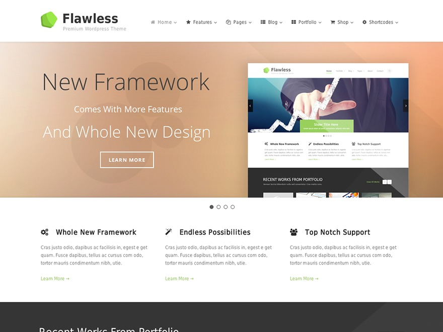 Flawless premium WordPress theme