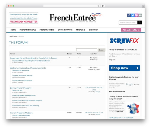 Free WordPress Sidebar Manager Light plugin - frenchentree.com/france-forum