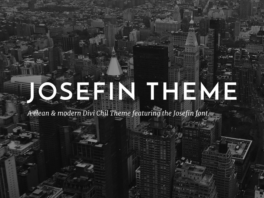 Josefin Divi Child Theme WordPress page template