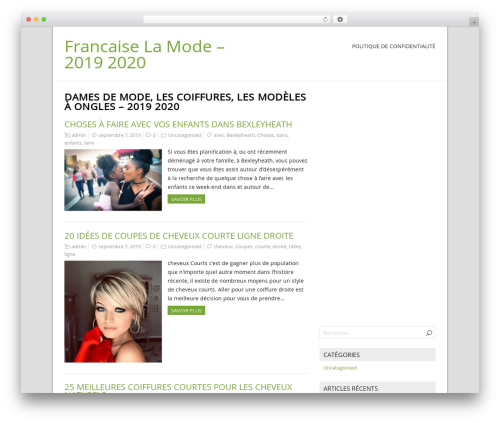 NatureSpace free WordPress theme - francaiselamode.com