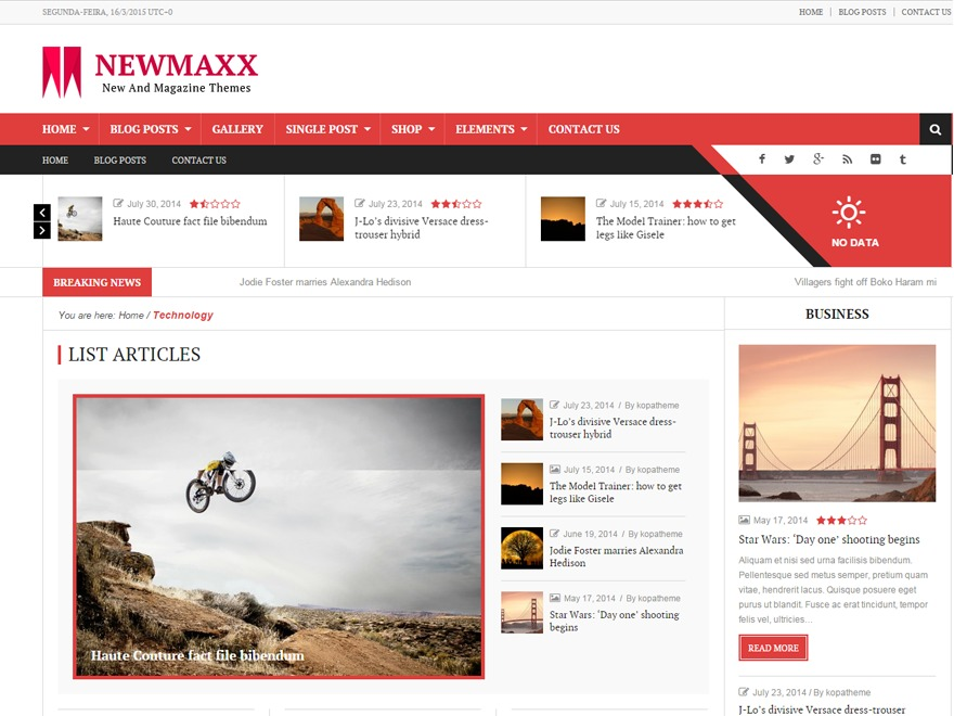 News Maxx - Lite WordPress magazine theme