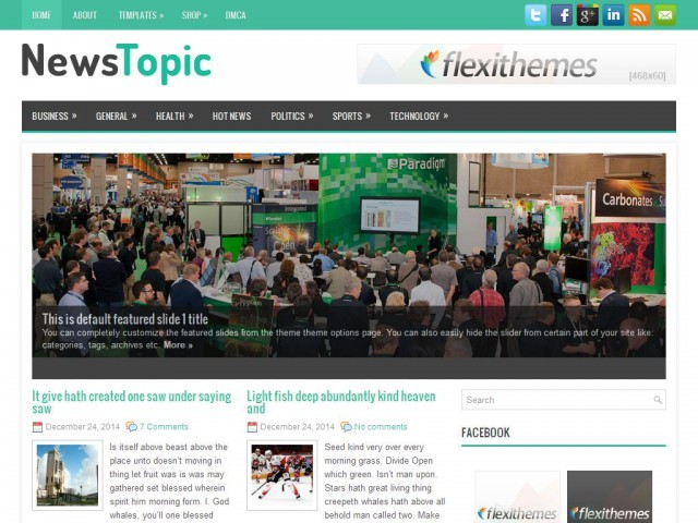 NewsTopic best WordPress magazine theme