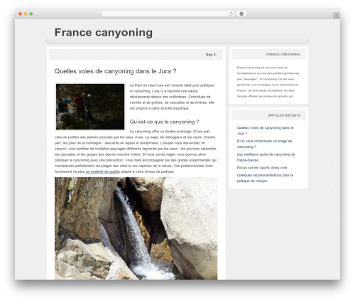 Paperpunch best WordPress theme - france-canyoning.com