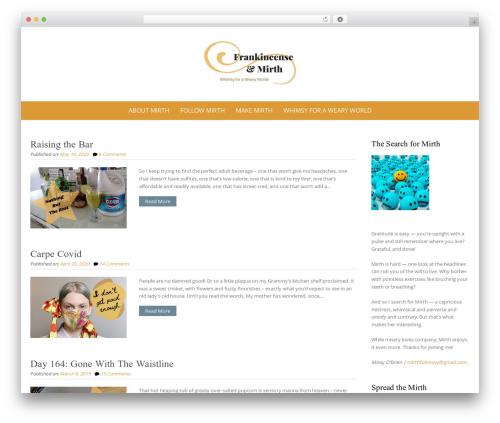 Pure Simple Pro WordPress theme design - frankincenseandmirth.com