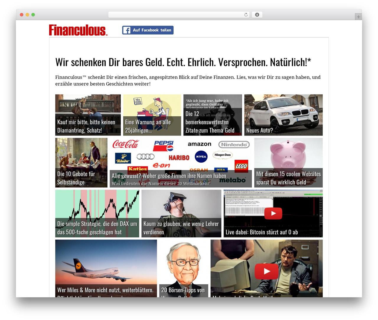 Responsive theme WordPress free - financulous.de