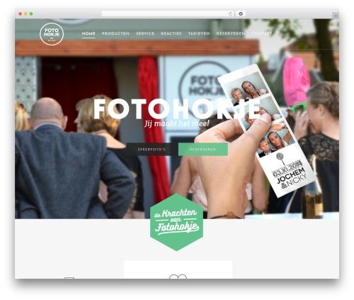 Salient top WordPress theme - fotohokje.nl