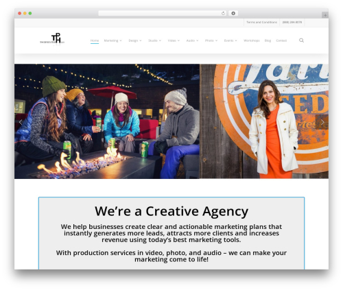 Salient WordPress website template - tahoeproductionhouse.com